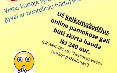 Netoleruokime internetinių patyčių!